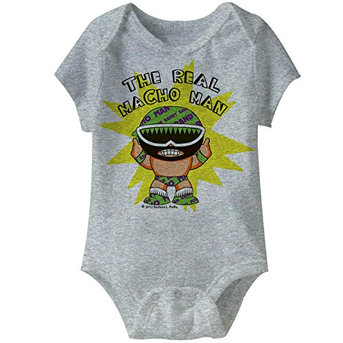 American Classics Macho Man to Be Real Gray Heather Infant Baby Creeper Snapsuit Romper