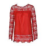 IMJONO Damen Party Oberteile Damen Oberteil Schwarz Frauen schwarzes Online für weiße weiß Rote Edle Rotes Rot XXL Schulterfreie Schulterfrei mit Lange Lang (EU-38/CN-L,Rot)