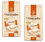 El Almendro - Das paket enthält 2 Porciones Turron Duro - Portionen Nougat hart 200 gr Höchste Qualität