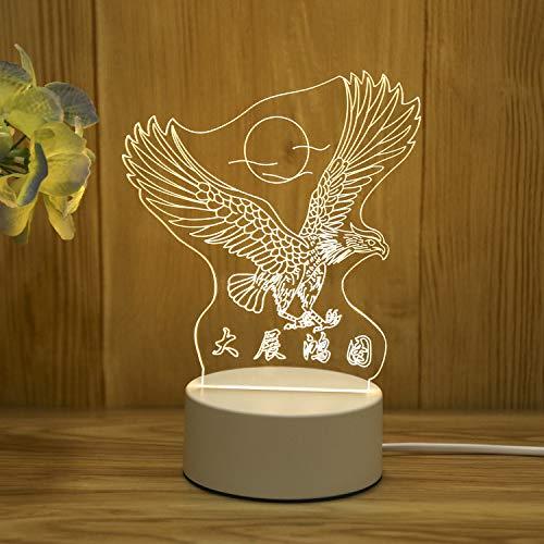 3D Stereo Nachtlicht Plug-in kreative Karikatur Mini Tischlampe Schlafzimmer Nacht einfache Geschenk Licht Ausstellung Makro USB Monochrome Licht
