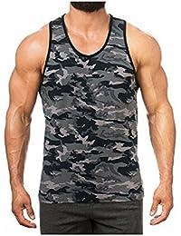 48ef2602b8f5 DOTBUY Tank Top Herren Muskelshirt Ideal für Sport Gym Fitness    Bodybuilding Muscle Shirt Lässig Tanktop