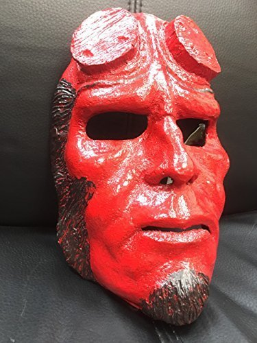 UK Halloween Cosplay Glasfaser hllboy Hölle Junge - Kostüm Verkleidung Kostüm Outfit Maske (Hellboy Halloween-kostüm)