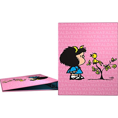 Grafoplás 88141949-carpeta Ringe A4Design Mafalda Vögelchen, 4Ringe 25mm