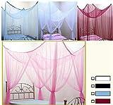 Betthimmel Baldachin Bettdekoration in Weiß 2,0m x 1,80m x 1,80m (L x B x H)