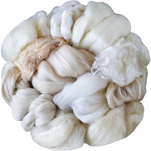 sortiert Wolle Roving Enden & Merino Top Abfall-Bulk Fasern zum Filzen, Spinning & Blender weiß Top Mühle