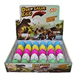 Dinosaur Eggs Toy Hatching Growing Dino Dragon pour enfants Grand Pack de 30pcs, motif de points colorés par Yeelan