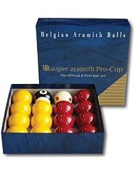 Aramith Super Pro-Cup 8 - Set de pelotas de billar (50,8 mm)