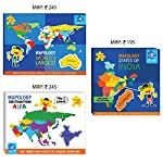 The Mapology Jumbo Combo is a fun pack of 3 bestselling puzzles to give your children hours of fun and constructive playtime this Summer. These Imagimake map puzzles contain the pieces in the shape of the countries and states to give the children a m...