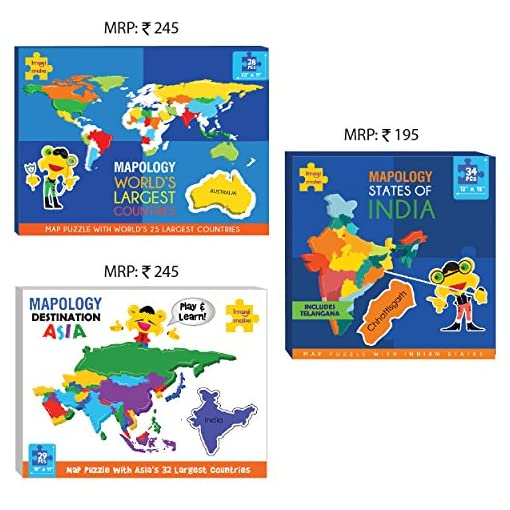 India Map Puzzle.Imagimake Map Puzzle Combo India World Asia Map Fashion Exclusives