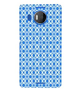 Fiobs Designer Back Case Cover for Microsoft Lumia 950 XL :: Microsoft Lumia 950 XL Dual SIM (Peacock Blue Illustrations)