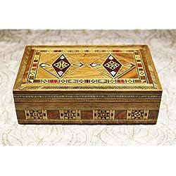 Joyero de madera con incrustaciones, regalo para la Navidad o de cumpleaños de sus seres queridos
