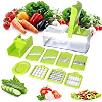 Mandoline 10 en 1 Multifonction Professionnelle Couteau de Cuisine Couper Hacher pour Légumes Fruits Coupe Rapidement et Uniformément Facile à Nettoyer - Duomishu