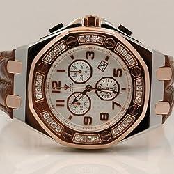 Aqua Master Royal Oak Mens Diamond Watch 1.50ctw W3253