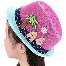 Leisial Sombrero de Paja Playa Gorro Visera para el sol al aire libre Viaje  Protector Solar e064a932a12