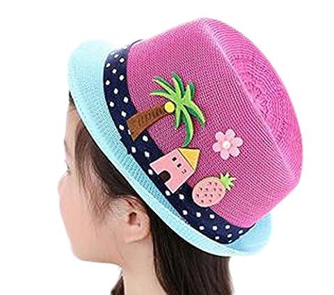 Leisial Fille Garçon Panamas Casquettes visières Chapeau de Soleil Anti-soleil Respirant Anti UV pour été Loisir Voyage Chapeau de