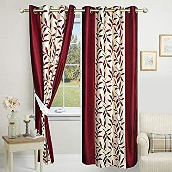 9320ab2d124d Impeccable Home Kolaveri 2 Piece Eyelet Polyester Window Curtain Set - 5ft