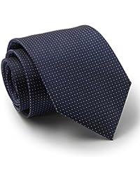 Savile Row Men's Navy White Pinspot Silk Tie