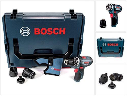 Preisvergleich Produktbild Bosch GSR 12V-15 FC Professional FlexiClick Akku Bohrschrauber mit 3 tlg. Aufsätze - Set in L-Boxx