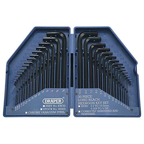 Draper 28744 - Estuche de llaves allen (30 piezas)