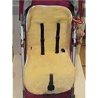 Kinderwagen Einlage KIWA Lammfell medizinisch 100% Merino Lammfell Baby Lammfell Einlage für Kinderwagen Buggy Babybett Kinderbett