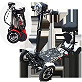 HWJJ Portable Mobility Scooter Travel Car, Boot Scooter 4 Wheel Portable Mobility Scooter 36V/10AH Batteries Cruising Range 30km and HD Display 150 Kg Max Load