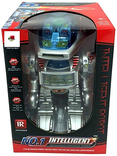 I-Robot RC Remote Controlled Robot Toy Robot Shoots Frisbees, Dances, Talks, Walks, with Sounds and