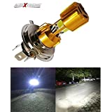 AllExtreme H4 Missile Projector LED Headlight Bulb for Motorcycle, Scooter, Car, Truck, ATV (9W, Golden, Pack of 1)