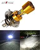 #3: AllExtreme H4 Missile Projector LED Headlight Bulb - High Low Beam CREE LED Driving DRL Light H4 Bulbs for Motorcycle, Scooter, Car, Truck, ATV -(Pack Of 1) (Golden)