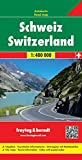 Schweiz, Autokarte 1:400.000, freytag & berndt Auto + Freizeitkarten
