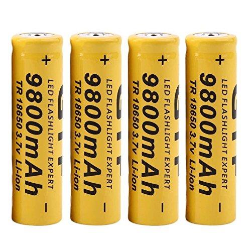 Qomomont 4 Stückerc Batterie 3,7 V 9800 Mah 18650 Modell Akku Li-ion Akku Für Led Taschenlampe Akku Ersatz Li-ion Led