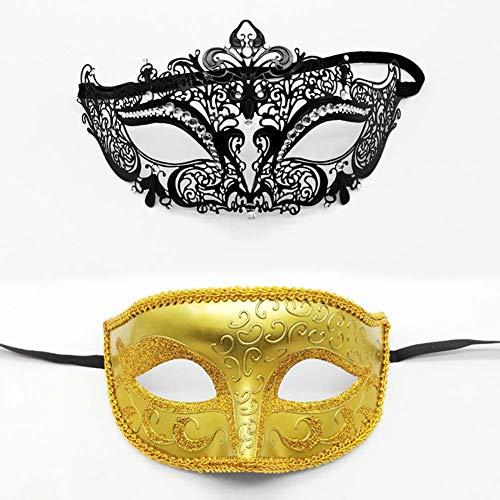 Halloween Diamant Kostüm - OOCO Schmiedeeisen Diamant Masken Für Halloween Kostüme Cosplay Kostüm Zubehör Exquisite Metall Openwork Half Face Masken,P