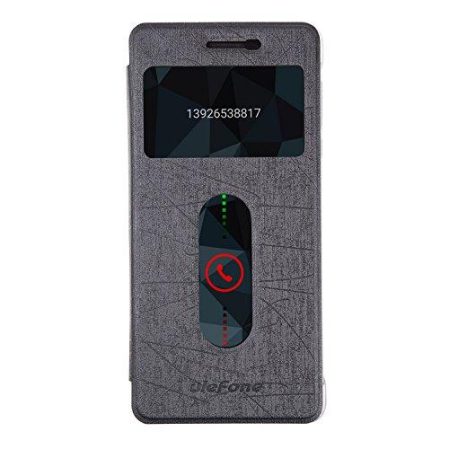 Ulefone Future Original Hülle -Premio Flip PU Hülle Cover Einzigartige Textur Case Schutzhülle Tasche Future Smartphone (Schwarz)