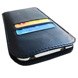 i-KitPit Genuine Leather Pouch Case For Alcatel POP C3 (BLACK)