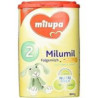 Milupa Milumil 2 Vanille-Geschmack, Folgemilch nach dem 6. Monat, 4er Pack (4 x 800 g)