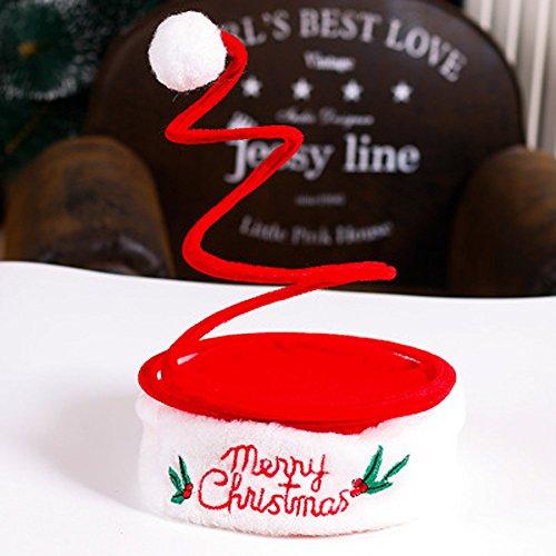 erkauf Weihnachtsfeier Weihnachtsmütze Rote Mütze für Weihnachtsmann Kostüm Neu (C) ()