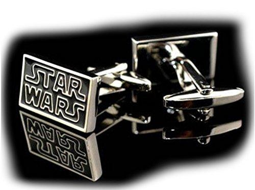 Manschettenknöpfe, Superhelden-Motiv , Star Wars Logo, onesize
