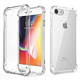 iphone 6 / 6S Case – Crystal Clear Shock Absorption Bumper Case Cover Pouch Ultra Hybrid Shockproof Transparent Protective Hard Plastic Back with Soft Silicone Gel TPU Case