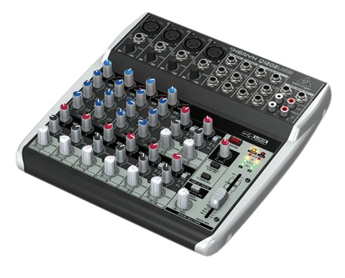 Behringer Q1202USB Xenyx Premium 12 Kanal 2-Bus Mixer mit Mic Preamps/Kompressoren/British EQs Und USB/Audio Interface (Musik Mixer)