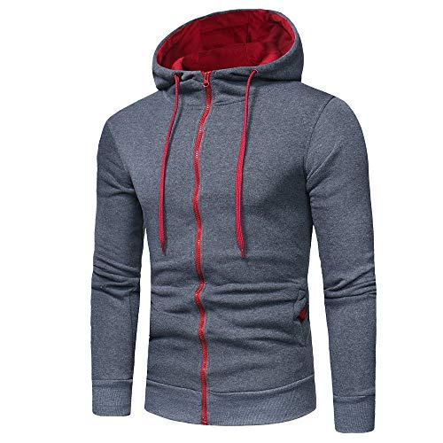 Hoodie Sweatshirt Herren feiXIANG Hoodie mit Kapuze Tops Jacke Mantel Outwear Männer Hooded...