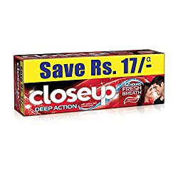 Closeup Fresh Action Red Hot Gel Toothpaste Value Saver Pack 2X150g