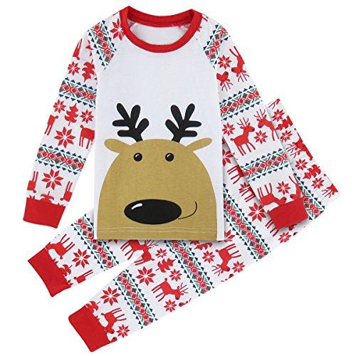 Mombebe Enfant Garçons Pyjama Noël Ensembles Vêtements De Nuit (Renne, 5 ans)