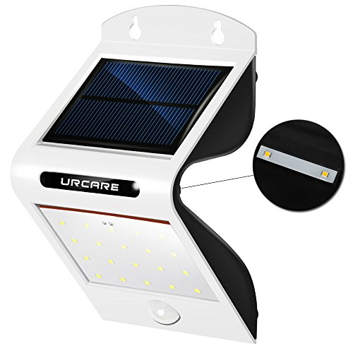Solarleuchte LED, Solarlampe mit bewegungsmelder Sicherheits Solarleuchten 20 + 2 LED wasserdicht im Freien Solarleuchten für Garten, Einfahrt, Innenhöfe, Balkons, Treppen, Außenwand