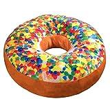 Donut Kissen XXL CANDY CLASSIC in Top-Qualität / Ø 37 cm / gefülltes Dekokissen / zur Dekoration / als Geschenk / als Spielzeug