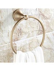 Toalla Anillo Estilo Europeo Todos Anillo de toalla de bronce Toalla de baño Anillo
