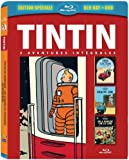 Tintin - 3 aventures - Vol. 5 : Objectif Lune + On a marché sur la Lune + Tintin au pays de l'or noir [Combo Blu-ray + DVD]...