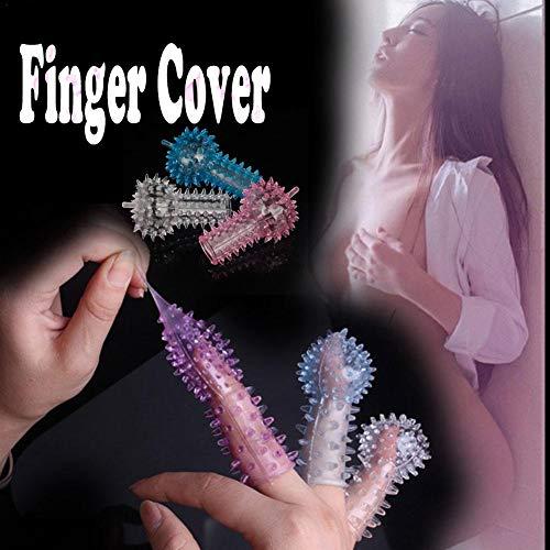 Supertop Finger Stinger Kristall Set Frauen G-Punkt Finger Abdeckung Liebe Ei Kopf Abdeckung Erotik Produkte Convex Sex Toy Finger Hygiene Finger Sleeve
