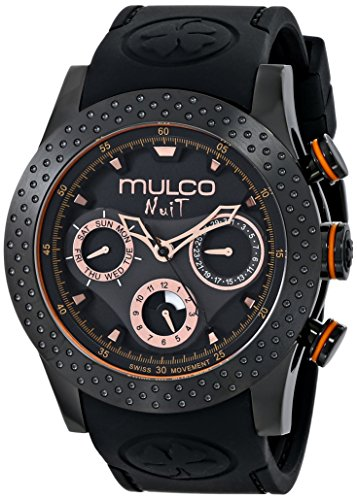 MULCO Unisex MW5-1962-260 Analog Display Swiss Quartz Black Montre