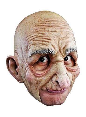 alter Mann kinnlose Latex Maske zum Opa Kostüm an Karneval Fasching