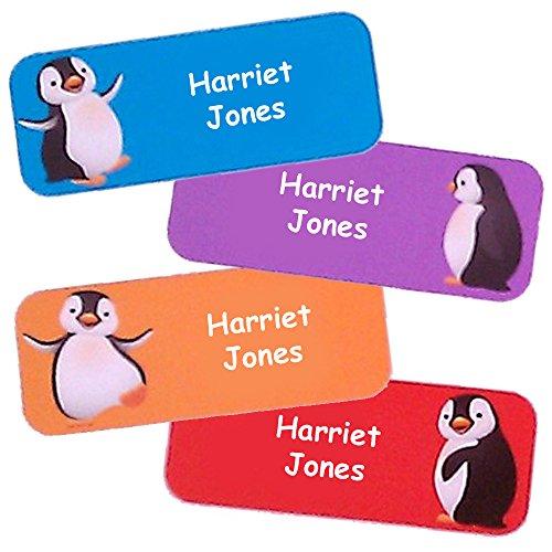 Namensaufkleber Kinder (Pinguin-Motive, 40 Stück) (Kinder Für Namensschilder)