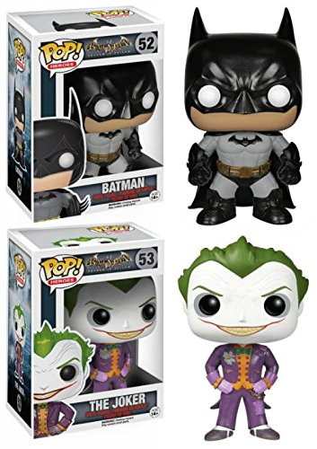 Funko POP! Batman Arkham Asylum: Batman + Joker - Vinyl Figure Set NEW (Funko Pop Poison Ivy)